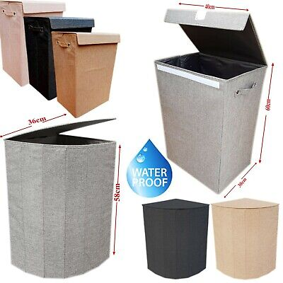 65L Quality Fabric Laundry Hamper Basket Bin Pop Up Washing Bag Foldable New • 10.99£