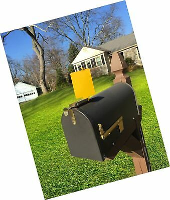 $19.97 • Buy Mail Time! Yellow Mailbox Alert Signal Flag For Long Driveways