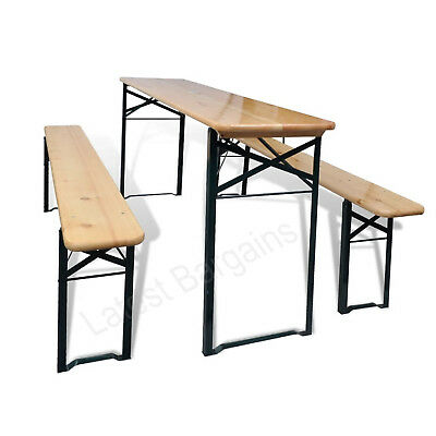 AU292.56 • Buy Wooden Folding Outdoor Picnic Table Beer Bench Chairs Setting Patio Garden Set