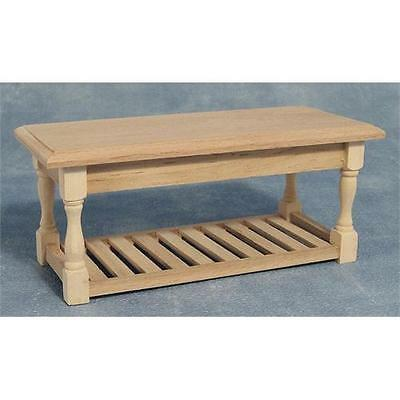 £7.84 • Buy Dolls House Kitchen Table Bare Wood Furniture 1:12 Scale BEF071