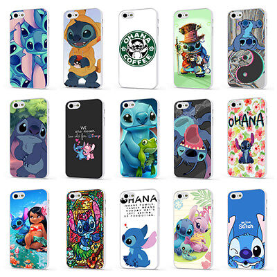 LILO AND STITCH DISNEY OHANA CUTE WHITE PHONE CASE COVER For IPHONE 4 5 6 7 8 X • 5.95£