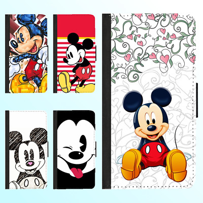 AU13.99 • Buy IPhone XS MAX XR 8 7 Plus 6s Leather Wallet Case Disney Mickey Minnie III Cover
