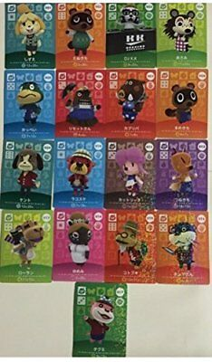 AU64 • Buy Nintendo Amiibo Japan Animal Crossing Card 1st SP All 17 Set