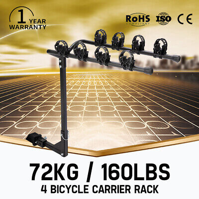 AU89.99 • Buy 4 Bicycles Carrier Bike Rack For 2inch Car Rear Towbar Hitch Mount 160LBS Max