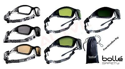 £14.49 • Buy Bolle TRACKER II Safety Glasses Goggles Spectacles & FREE Pouch Bag