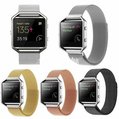 AU12.74 • Buy New Milanese Magnetic Loop Stainless Steel Band Strap For Fitbit Blaze Bracelet
