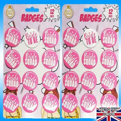 £3.85 • Buy HEN DO PARTY (BRIDE SQUAD) BADGES Pink White Pin Badge Bridal Shower L Plate 💋