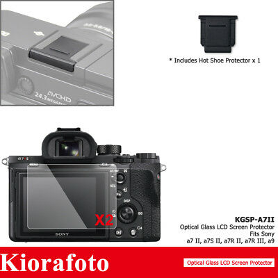 $ CDN12.11 • Buy 2PCS Glass Screen Protector+Hot Shoe Cover For Sony A7 III II A7S II A7R III A9