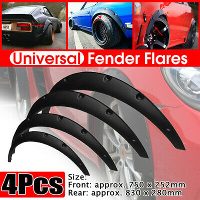 $33.99 • Buy 4x Car SUV Flexible Fender Flares Lips Durable Protector Trim Universal Kit Auto