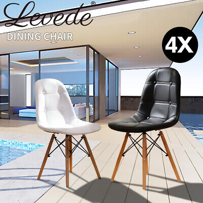 AU189.99 • Buy Levede 4x Retro Replica PU Leather Dining Chair Office Cafe Lounge Chairs