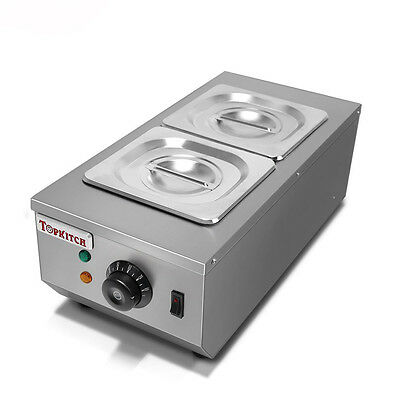 £130 • Buy Commercial 2 Tanks Chocolate Melting Pot Electric Hot Chocolate Melter 220V
