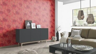 £10.99 • Buy Oriental Japanese Chinese Trees Banzai Feature Wall Wallpaper Glitter Red Gold