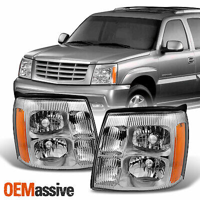 $135.99 • Buy Fits 2002 Cadillac Escalade Halogen Type Headlights Lamps Light Replacement