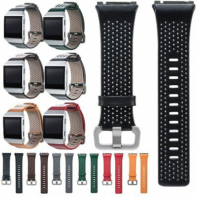 $ CDN11.85 • Buy Cowhide Genuine Leather Sports Watch Band Strap Bracelet For Fitbit Ionic Watch