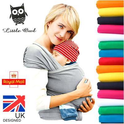 BABY WRAP CARRIER SLING STRETCHY - Breastfeeding - MANY COLOURS!!! • 11.85£