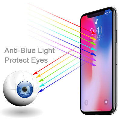 AU2.95 • Buy IPhone 12 11 Pro Max Xs XR 8 7 6 Plus Blue Light Tempered Glass Screen Protector