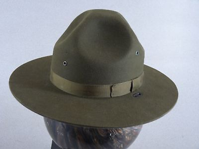 582cc559 Stratton Self Forming Green Felt State Trooper Campaign Hat With Green Band  • 29.99$