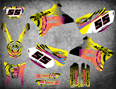 $137.18 • Buy Graphics Kit Fits Yamaha WR 450 F  2003 2004 NEON STYLE Stickers Decals