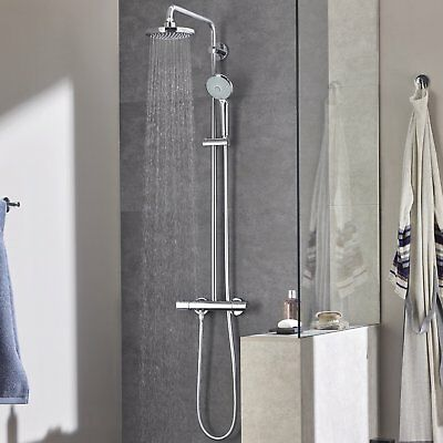 £344.05 • Buy GROHE 27296001 Euphoria 180 Thermostatic Shower With Bar Shower Mixer