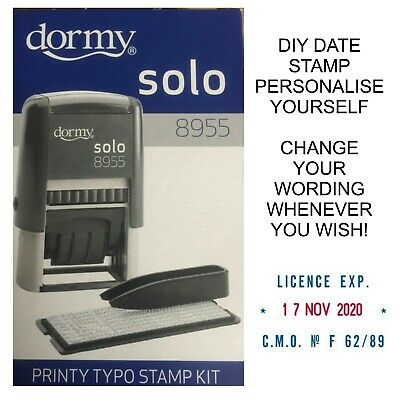 £7.95 • Buy Personalised Date Stamp Diy Company Name Dormy 4755 Self Inking Rubber 19943