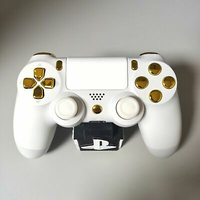 AU138.35 • Buy Official PS4 Controller V2 Custom Arctic White Themed W/ Chrome Gold Buttons