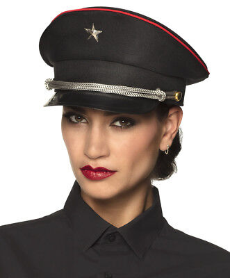 Russian Army Officer Cap Hat Star Soldier Fancy Dress Military Costume Elite NEW • 11.99£