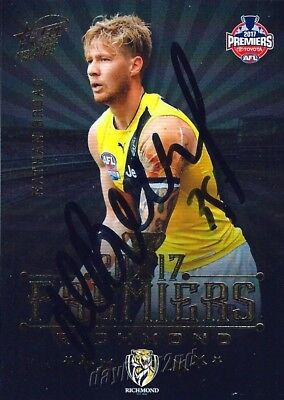 AU24.99 • Buy ✺Signed✺ 2017 RICHMOND TIGERS AFL Premiers Card NATHAN BROAD