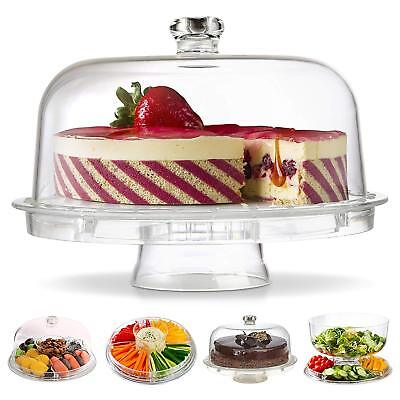 £13.89 • Buy 6in1 Cake Stand With Dome Punch Salad Bowl Chip Dip Platter Cupcake Holder Case
