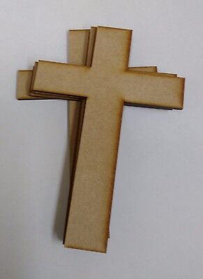 £3.85 • Buy Wooden Mdf  Large Irish Cross Craft Shapes Tags  Decor 10 PACK 3mm Thick
