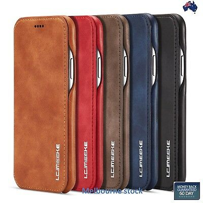 AU13.14 • Buy Ultra Slim Leather Wallet FlipStand Case Cover Apple IPhone12 11Pro/MAX/X/XS 8 7
