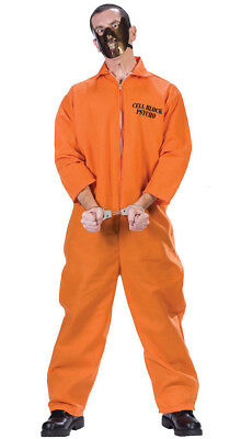 Mens Hannibal Lecter Fancy Dress Costume Halloween Prisoner Psycho Costume  • 18.99£