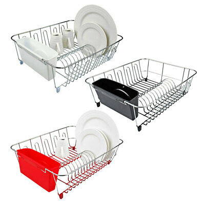 AU25 • Buy D.Line Chrome Dish Rack Drying Holder Tray Kitchen F/ Cup/Plates/Cutlery Drainer