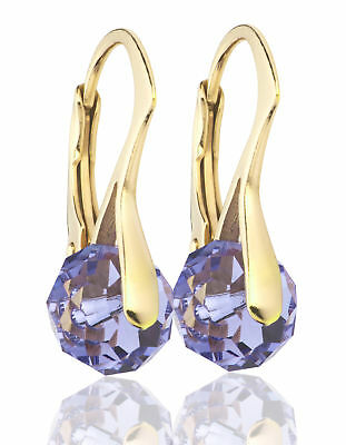 Ah! Jewellery® Elegant 8mm Genuine Tanzanite Crystals From Swarovski® • 14.99£