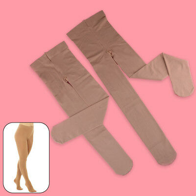 Footed Ice Roller Skating Dance Tights Various Sizes Natural Tan  8-14 S M L • 9.44£