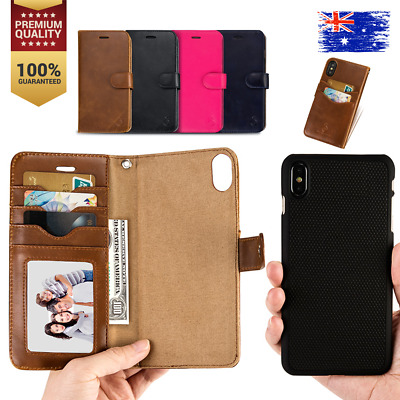 AU14.99 • Buy For IPhone X XS 7 8 Plus Luxury Magnetic Leather Card Holder Wallet Case Cover