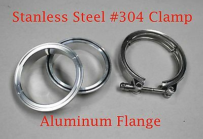 $28.50 • Buy 3.5  Clamp Aluminum M/F Flanges V-Band Turbo Intercooler Piping Kit W/ O-ring
