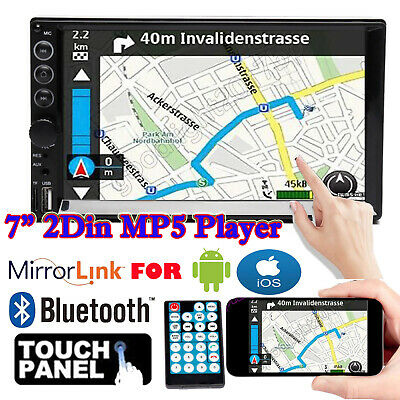 $82.29 • Buy 7  Double 2DIN Car Stereo Radio MP5 Player Indash Mirror Link For GPS Navigation