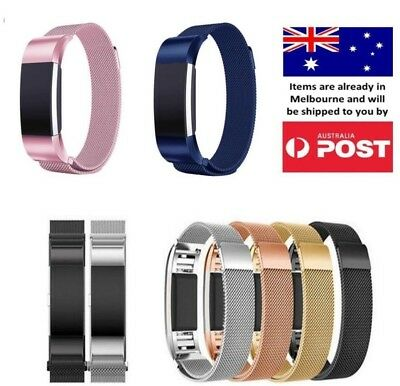 AU11.95 • Buy New Milanese Stainless Steel Wrist Band Strap For Fitbit Charge 2 / Charge HR 2