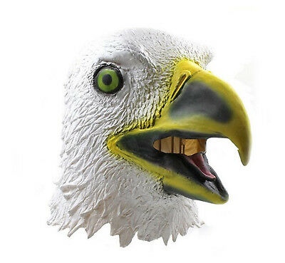 Funny White Eagle Latex Full Head Mask Fancy Dress Costume Halloween Party • 8.99£