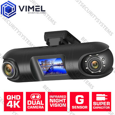 AU119 • Buy VIMEL Vehicle Dual Dash Camera Uber Evidence Ultra HD 4K Night Vision