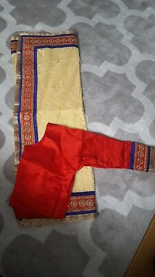 Lace Saree With Ready Made XL Blouse • 30£