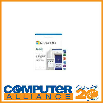 AU119 • Buy Microsoft 365 Family (Office Home Mac/Win) 1 Year Subscription 6GQ-01143 Up To 6