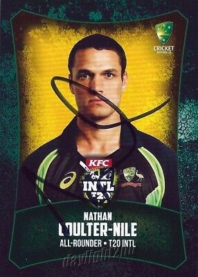 AU9.99 • Buy ✺Signed✺ 2016 2017 AUSTRALIA Cricket Card NATHAN COULTER-NILE BBL
