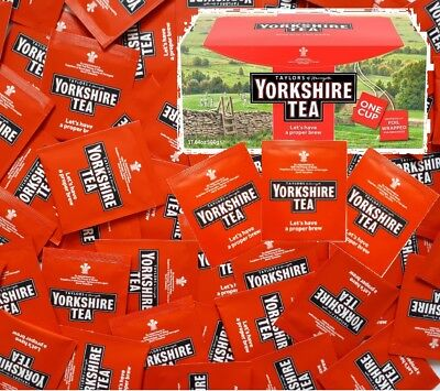 Yorkshire Tea Individually Wrapped Tagged Enveloped One Cup Tea Bags Proper Brew • 7.99£