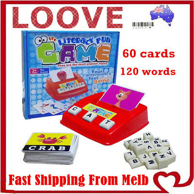 AU19.49 • Buy Literacy Fun Game Kid Toys Early Learning English Word Card Children Educational