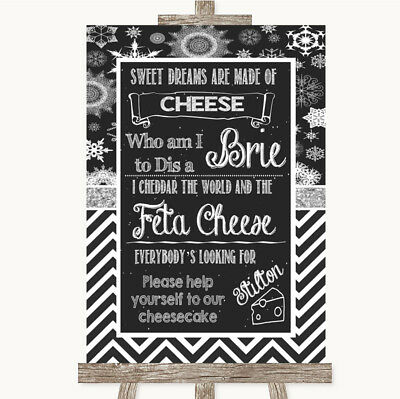 Wedding Sign Poster Print Chalk Winter Cheesecake Cheese Song • 8.29$