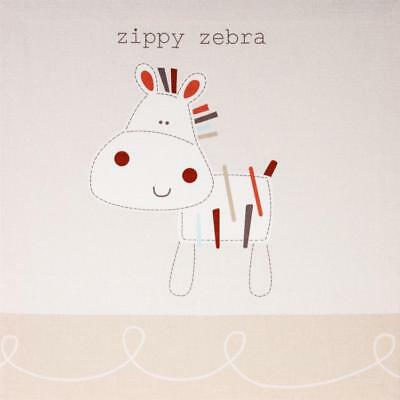 Baby Zippy Zebra Wall Canvas Nursery Decoration Accessories Gifts By Bed E Byes • 11.85£