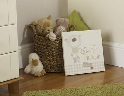 Baby Baxter The Bear Wall Canvas Nursery Decoration Accessories Gifts • 11.99£