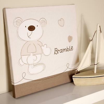 Baby BrambleWall Canvas Nursery Decoration Accessories Gifts By Bed E Byes • 11.99£