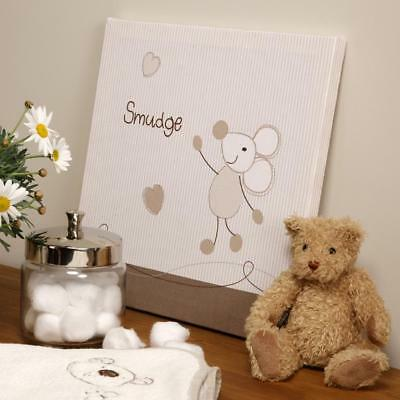 Baby Smudge Wall Canvas Nursery Decoration Accessories Gifts By Bed E Byes • 11.99£